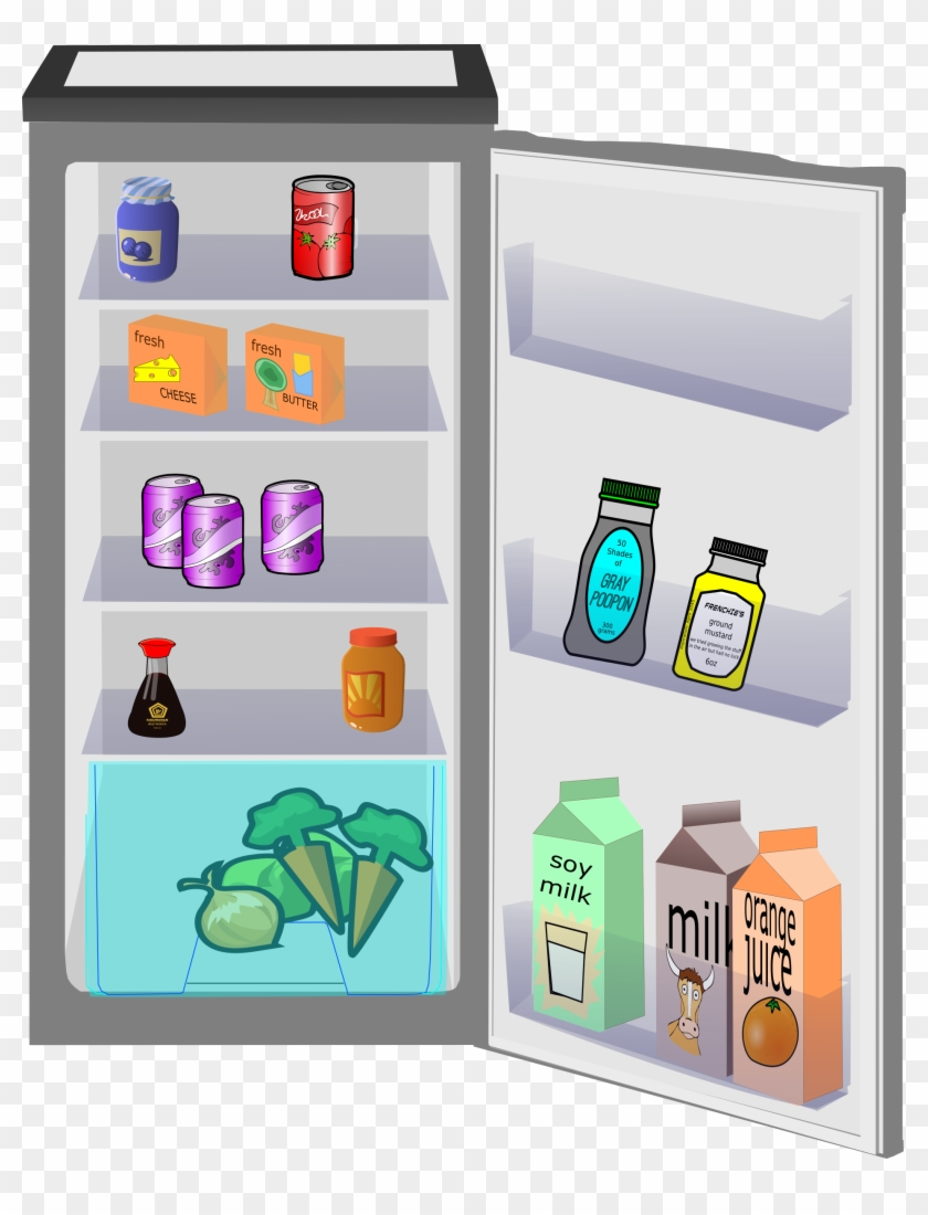 royalty free stock Fridge clipart opened. Open back hand drawing