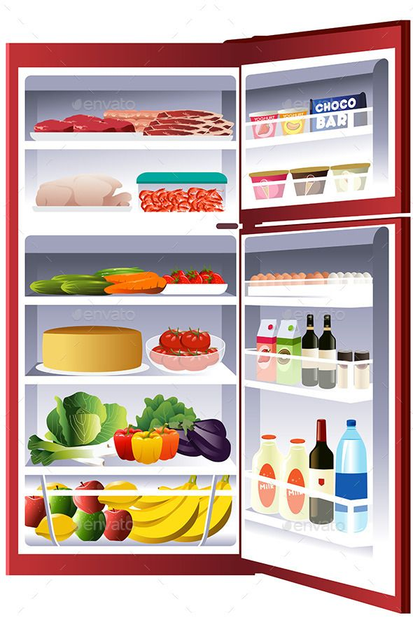 clip art library Fridge clipart opened. Free pictures clipartix