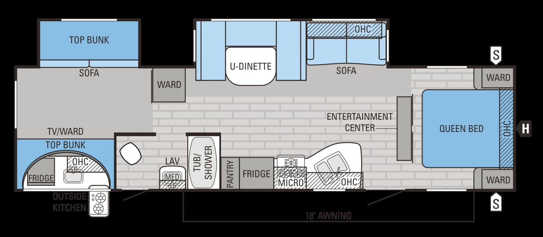 vector free stock Bunkhouse Trailer Floor Plans Monticello Floor Plan