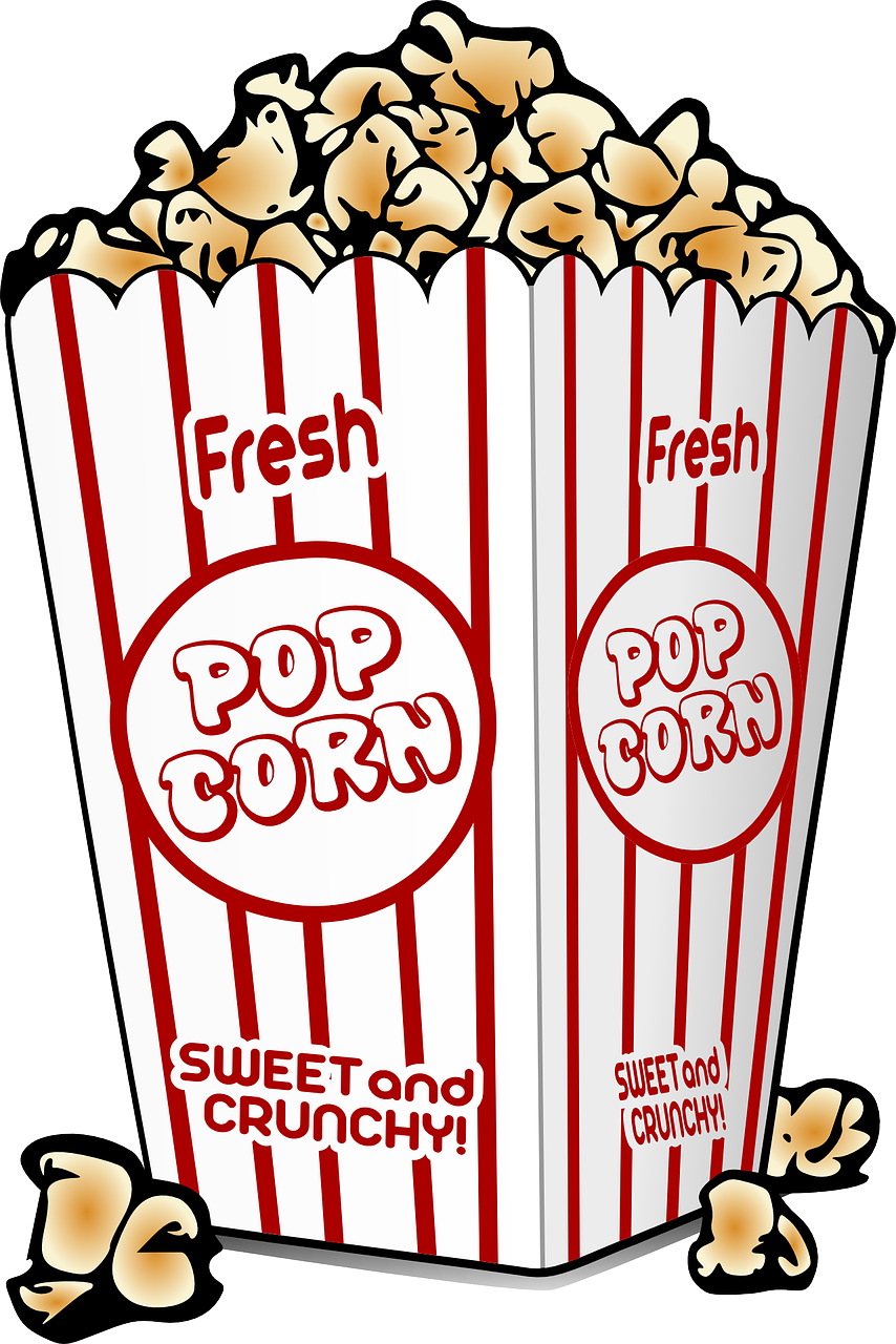 vector freeuse stock Kids movie night clipart. The popcorn way and