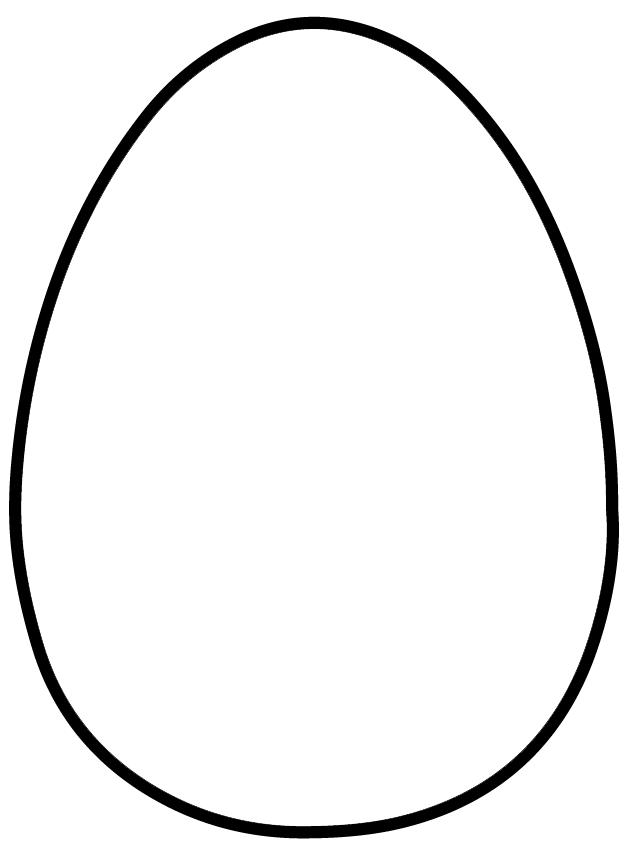 vector freeuse Egg Clipart Outline