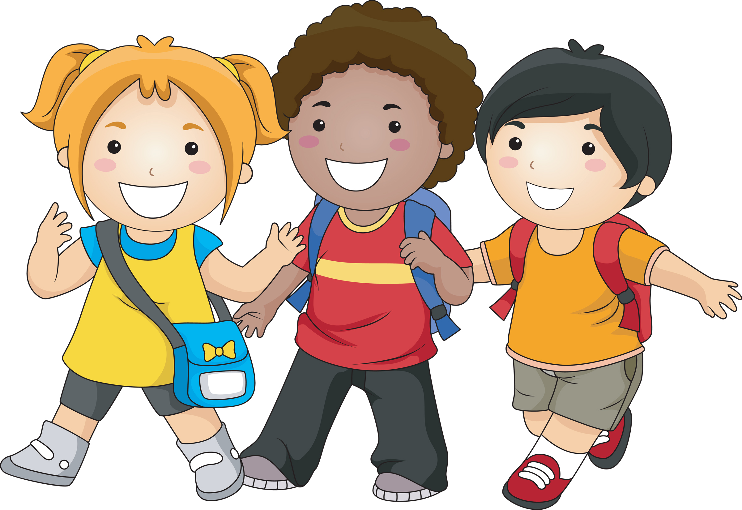 graphic black and white library Kids walking feet clipart. Friendship free clip art