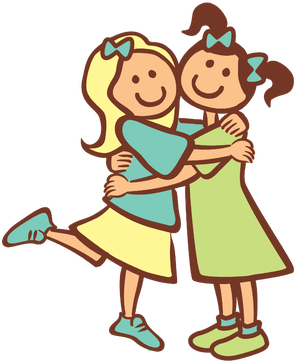 picture transparent download Good clipart 2 friend. Two friends hugging girls