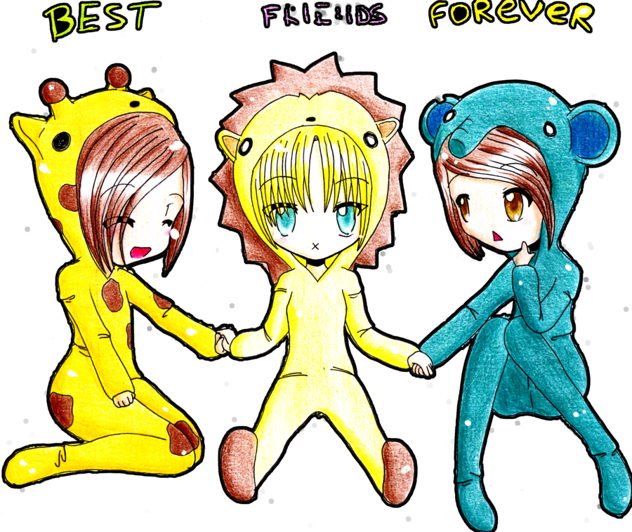 graphic freeuse Best friends forever by. Drawing random cute