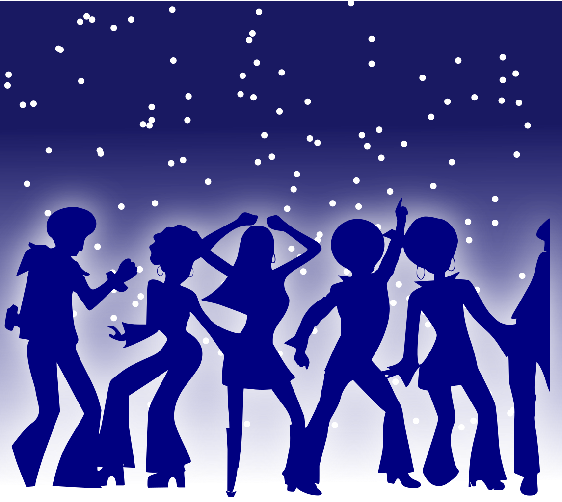 jpg freeuse library Club clipart dance performance. File disco dancers svg.