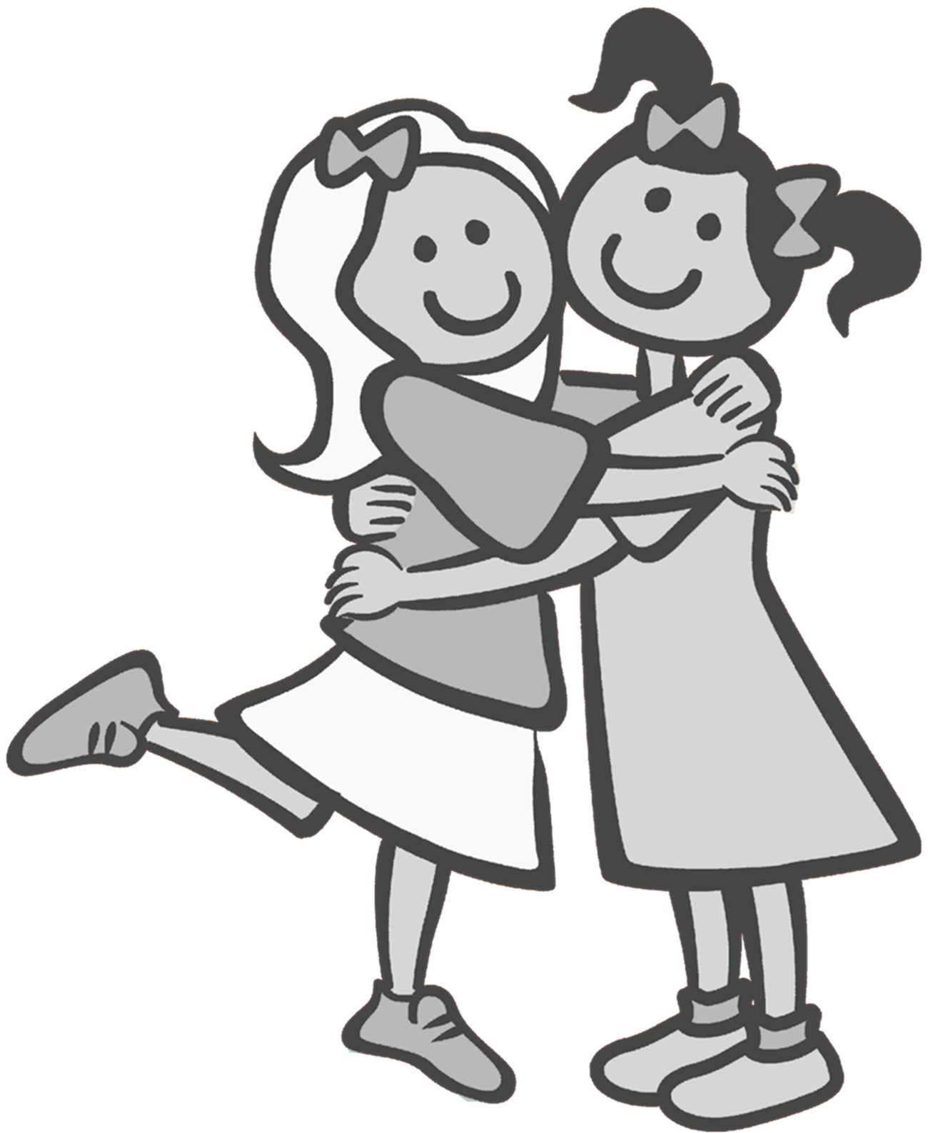 picture freeuse Friends Clipart Black And White