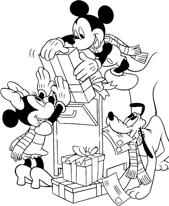 clipart freeuse Drawing printables mickey mouse. And friends christmas coloring