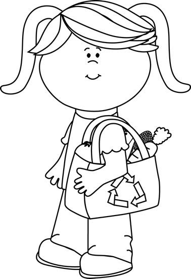 freeuse library Supermarket clipart cartoon. Black and white girl