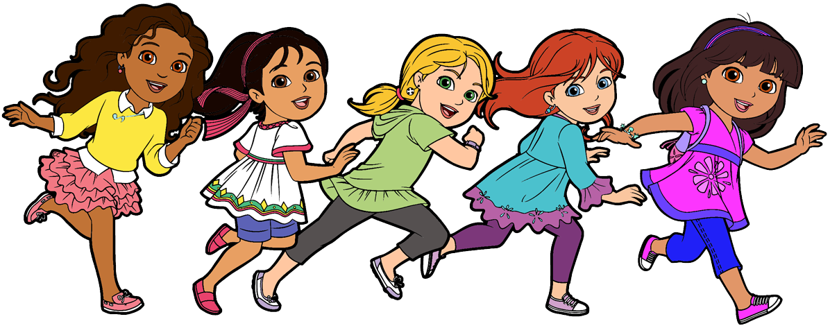 graphic free Friends clipart. Dora and cartoon clip