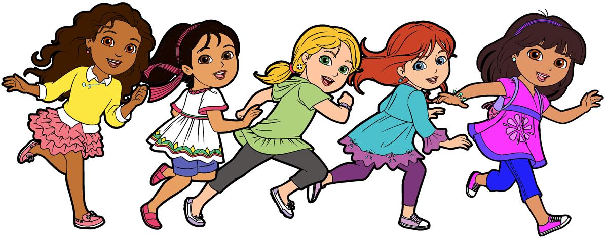 graphic free Friends clipart. Dora and cartoon clip.