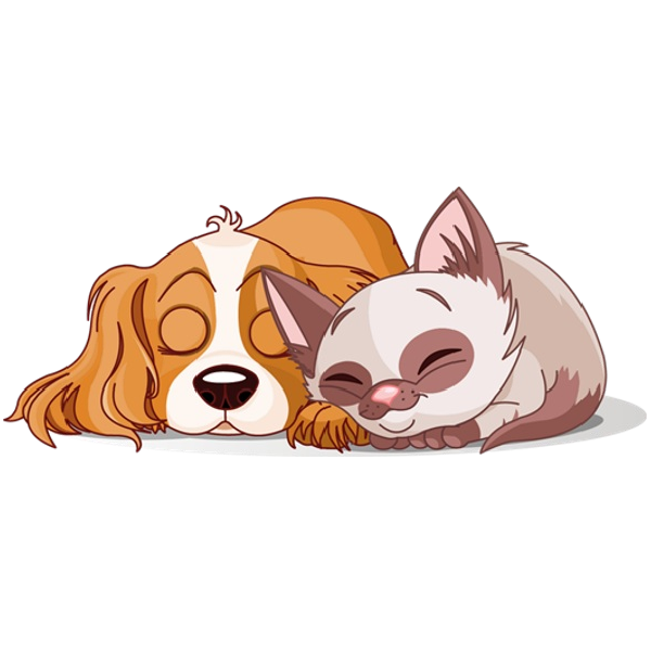 graphic freeuse dog and cat clipart #60640663
