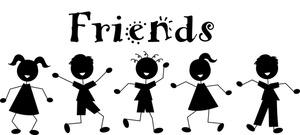 graphic black and white library Friendship clip art images. Friends clipart free