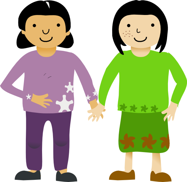 freeuse stock Friends Clipart