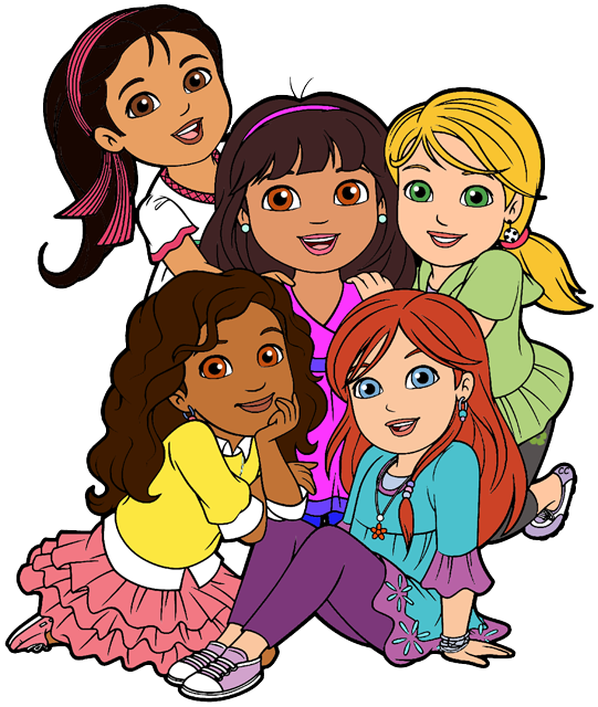 picture freeuse download Dora and cartoon clip. Friends clipart.