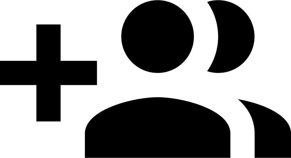 image black and white Friend Add Svg Png Icon Free Download