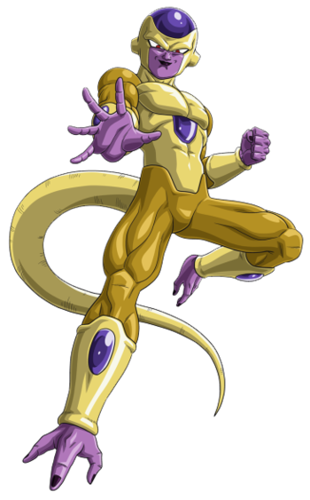 svg transparent Image golden art png. Frieza transparent