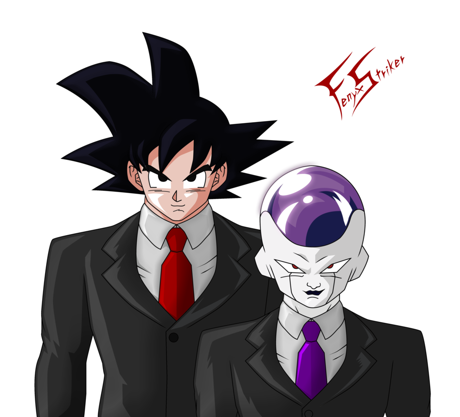 svg royalty free library Frieza transparent tux. Agents z goku and
