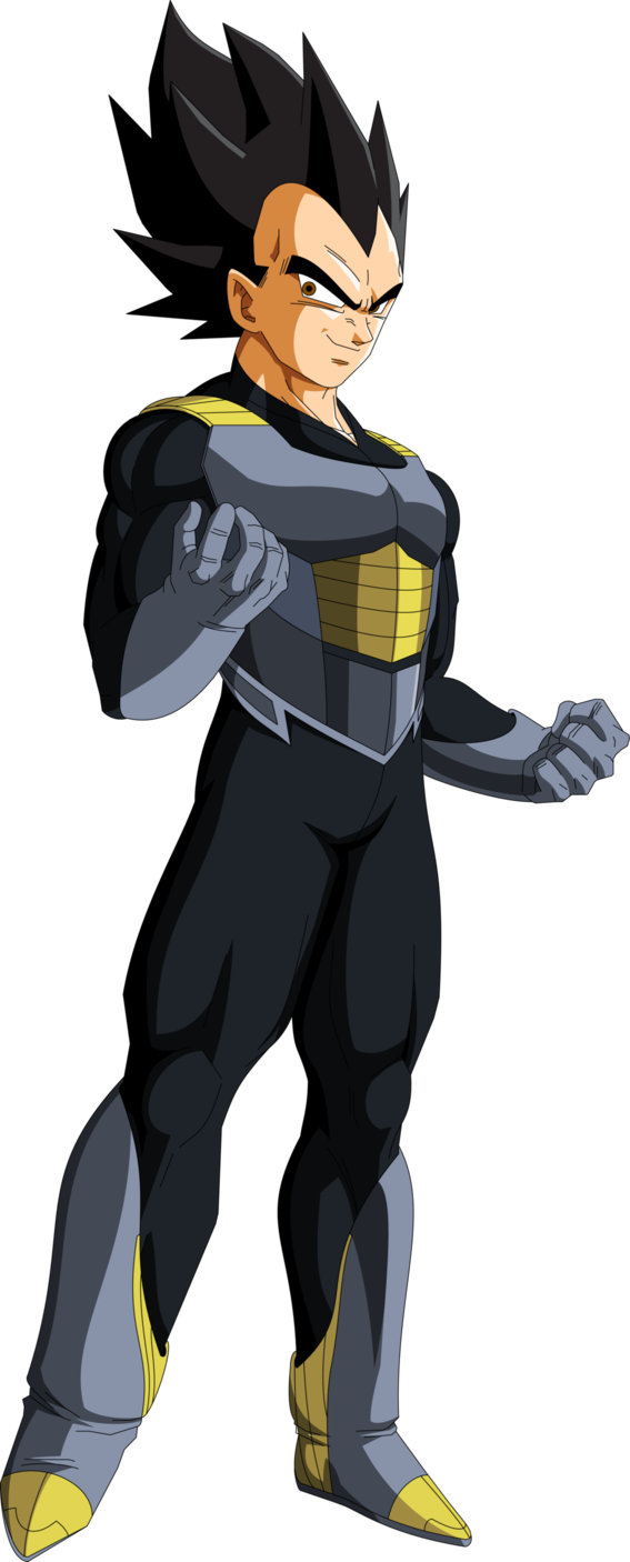 vector library stock Vegeta saga mll redesign. Frieza transparent tux
