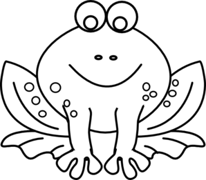 picture transparent library Frog Outline Clip Art at Clker