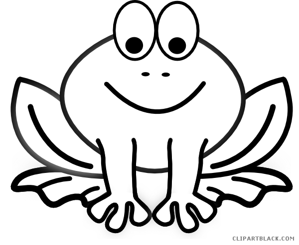 vector library Frogs clipart black and white. Frog clipartblack com animal