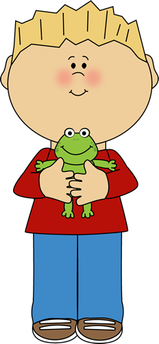 svg free Boy a frog colorful. Holding clipart