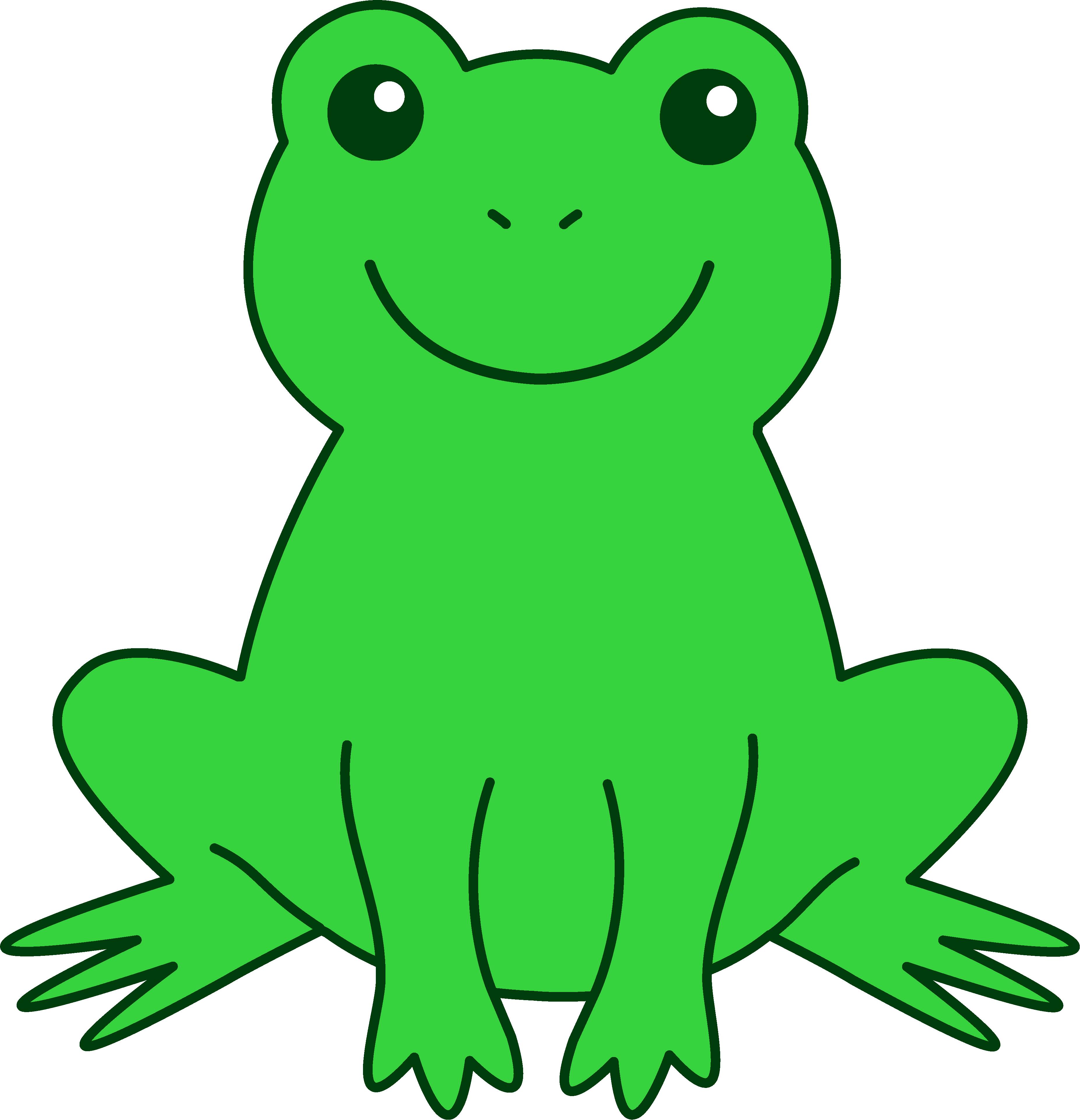 vector freeuse Frog Clip Art For Teachers