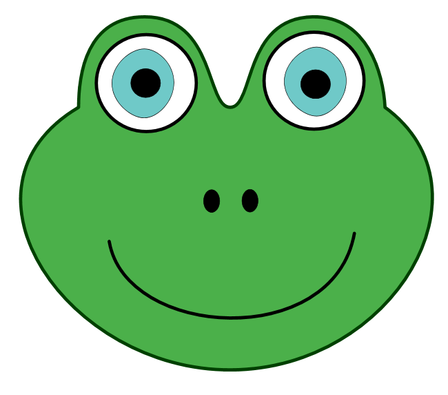 jpg freeuse download Green Frog Face Clipart