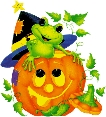 graphic library download Halloween clipart frog. Image du blog mamietitine