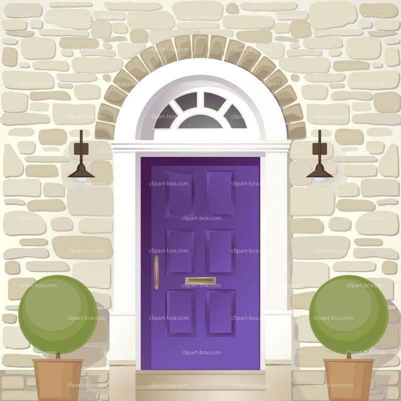 vector freeuse stock Vector door house. Clipart front royalty free
