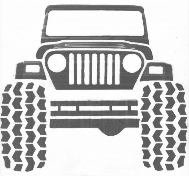 clip art black and white library Clip art google search. Front of jeep clipart