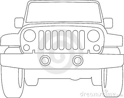 clip transparent library Cartoon clip art royalty. Front of jeep clipart