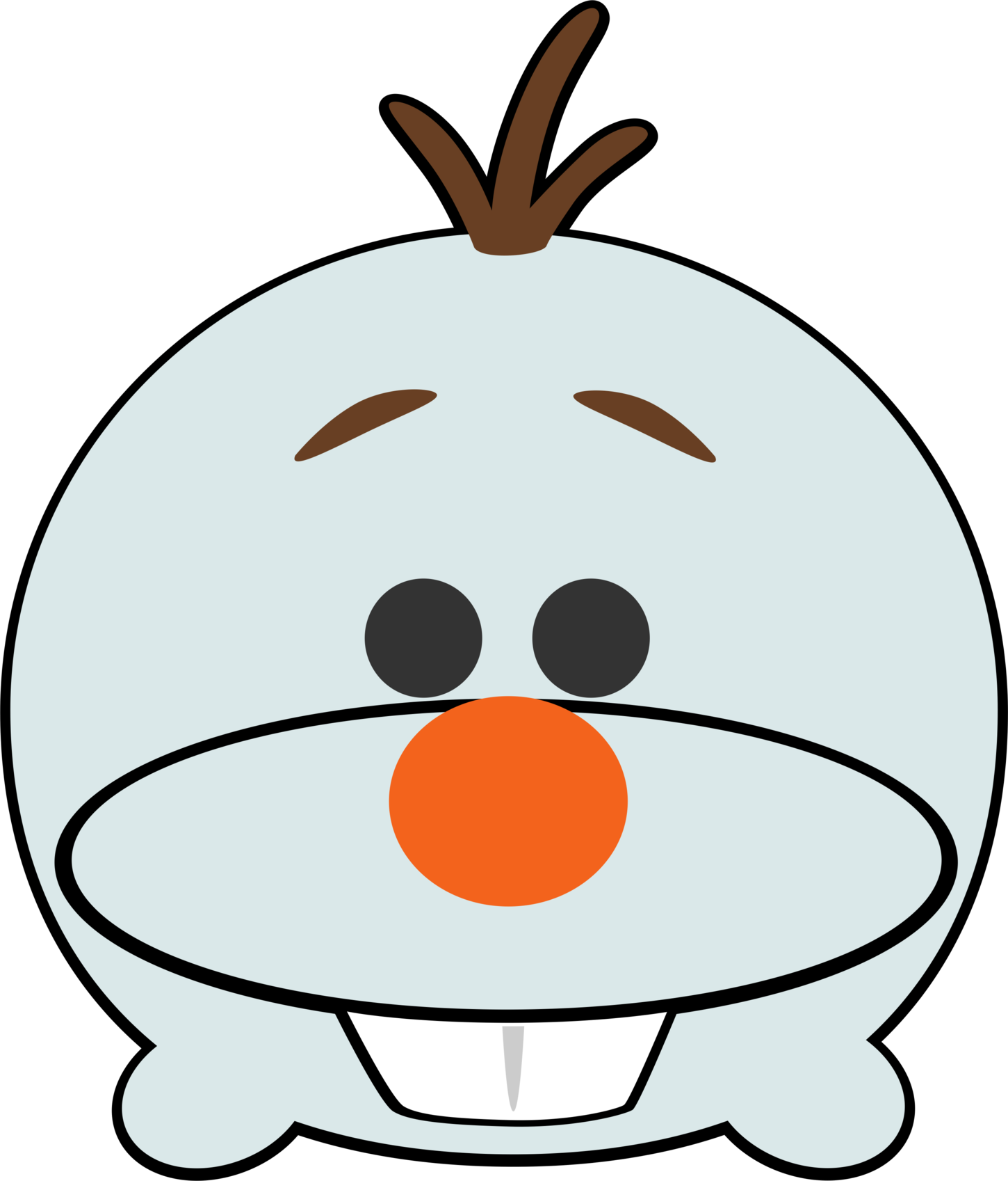 black and white download Disney Tsum Tsum Clipart Olaf Frozen