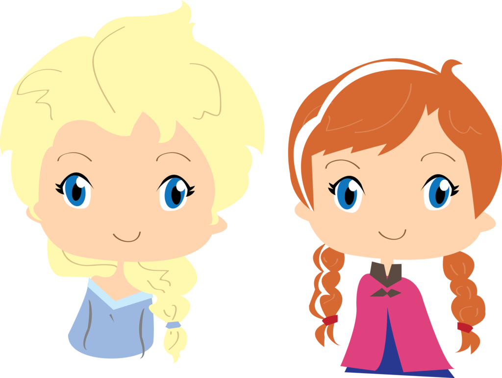 clip free library Frozen vector anna. Elza and by milenafernandes.