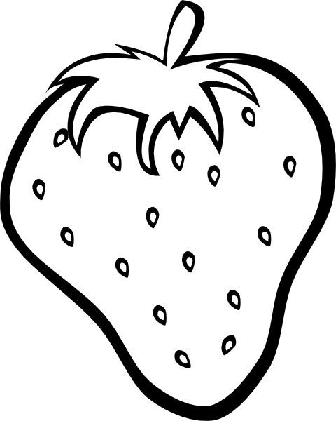 black and white download Fruit And Vegetable Clip Art Black And White