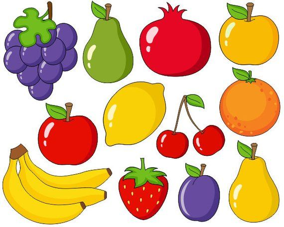 jpg transparent library Fruit clipart. Fruits and vegetables clip.