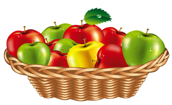 svg freeuse download Basket of apples clipart. Fruit png egy b