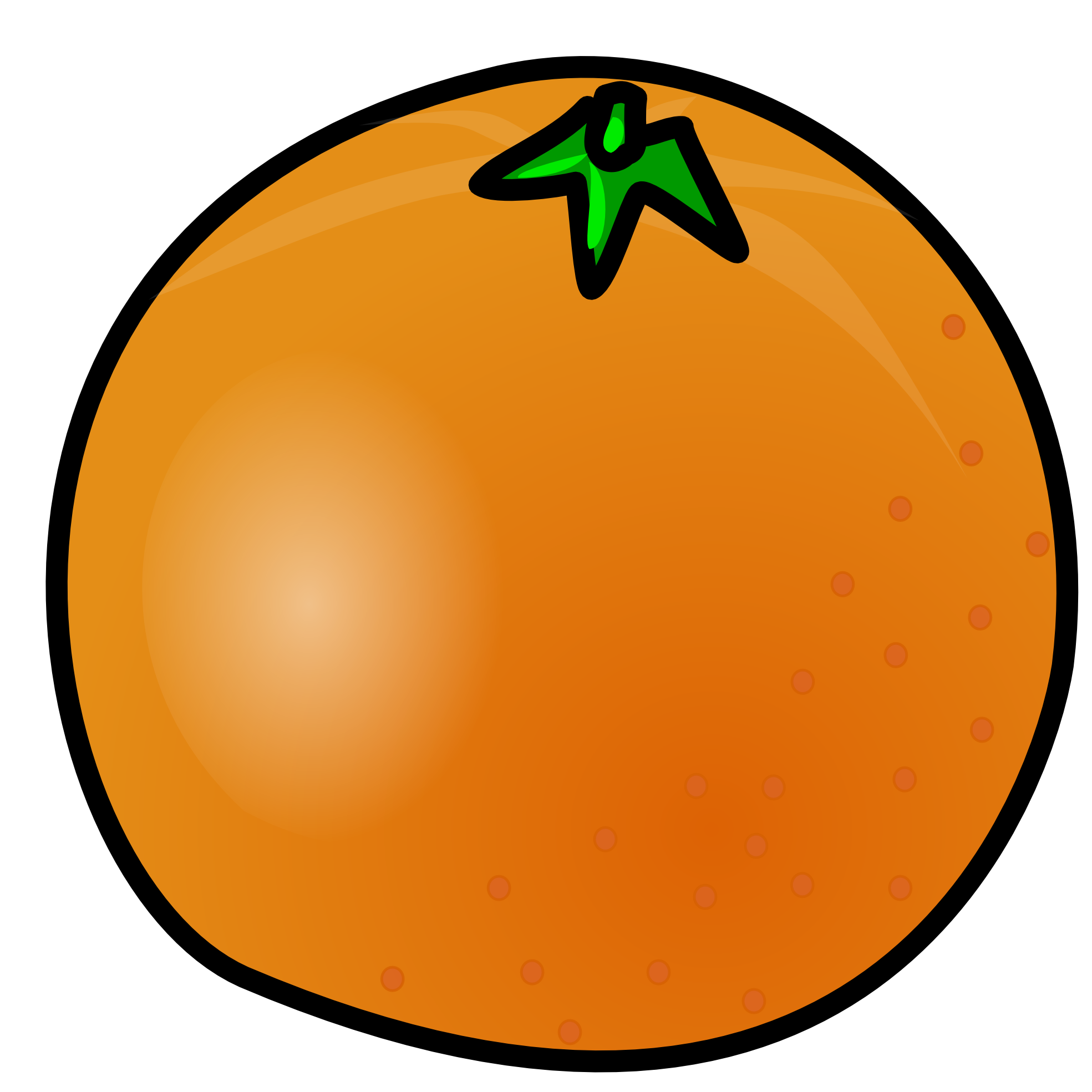 graphic royalty free Orange Fruit Clipart printable