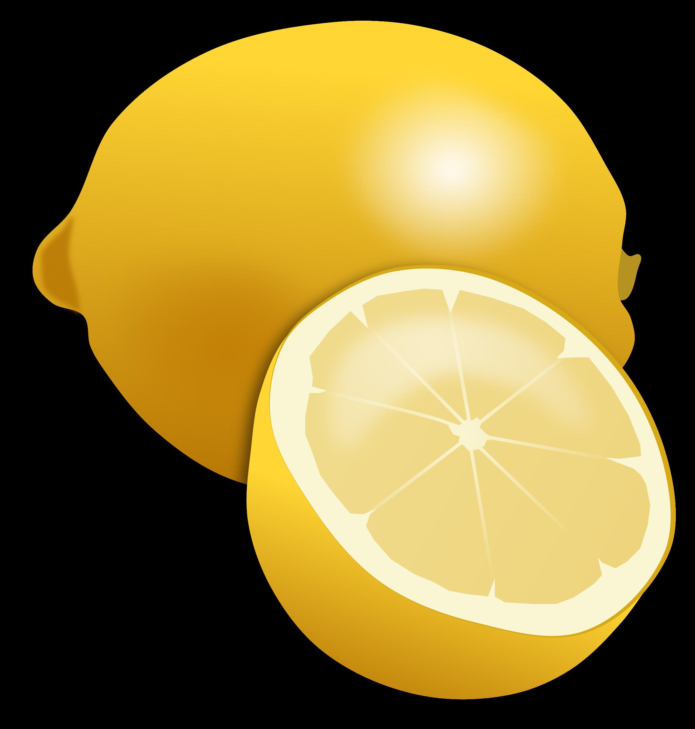 svg freeuse download Lemon clipart lemon slice. .