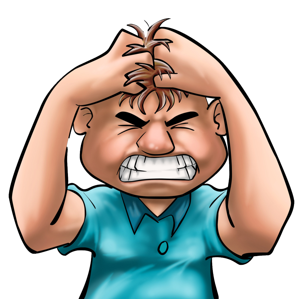 clip art royalty free stock Frustrated clipart frustrated person. Frustration smiley clip art.