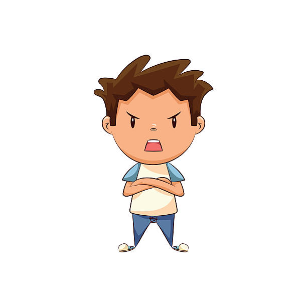 svg black and white download Frustrated kid clipart. Portal