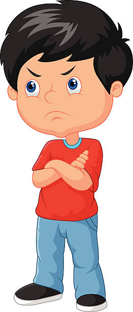 graphic stock Frustrated kid clipart. Boy clip art library