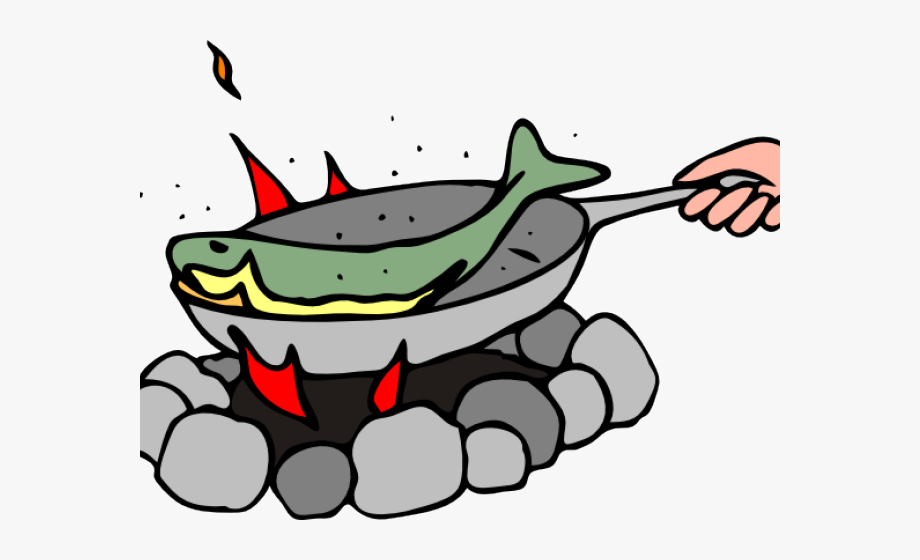 jpg free download Pan cartoon fish fry. Frying clipart.