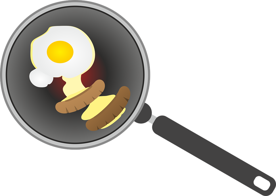 clipart black and white download Frying clipart. Fried egg hot pan.