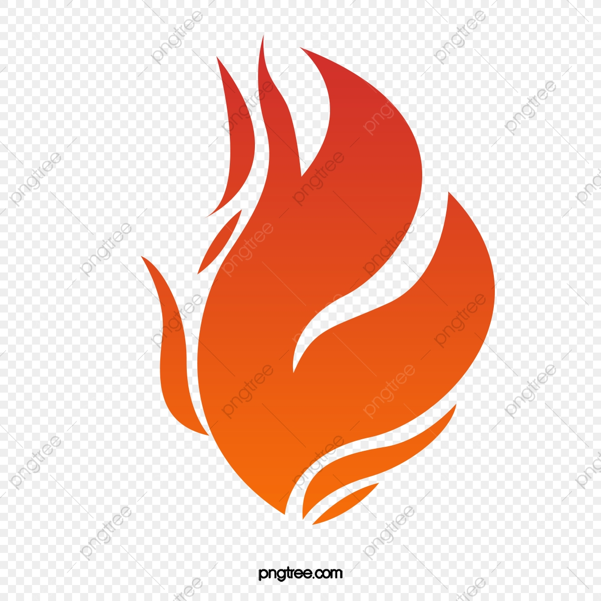 graphic free library Llama roja parpadeando forma. Fuego vector