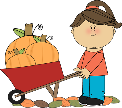 clip royalty free Girl pushing wheelbarrow full. Petting zoo clipart