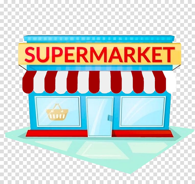 picture download Supermarket clipart transparent. Store illustration grocery facade