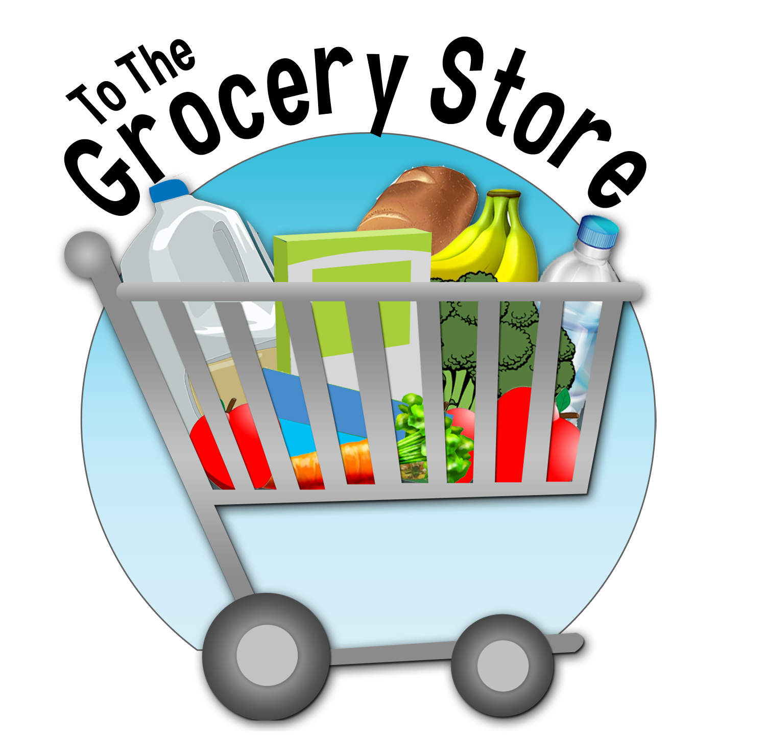 graphic freeuse stock Supermarket clipart shopping bill. To the grocery store