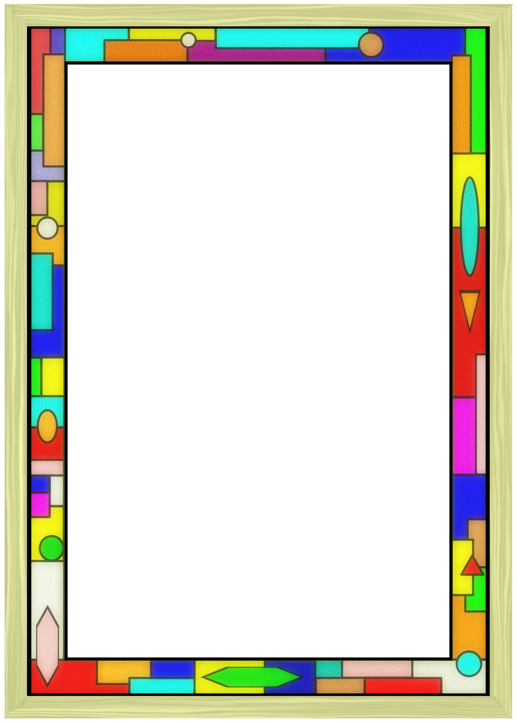 jpg royalty free stock Stained glass border big. Fun borders clipart