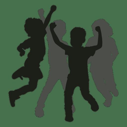 royalty free download Kids svg. Having fun silhouette transparent.