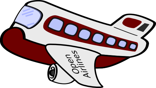 svg library library Funny Airplane Clipart
